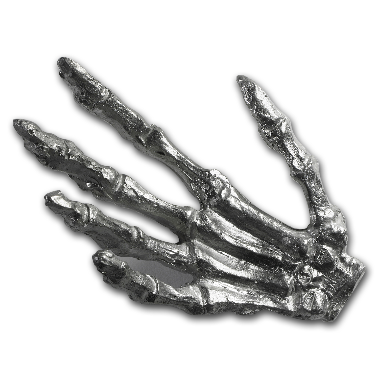 6 oz Silver - MK Barz & Bullion (Skeleton Hand)