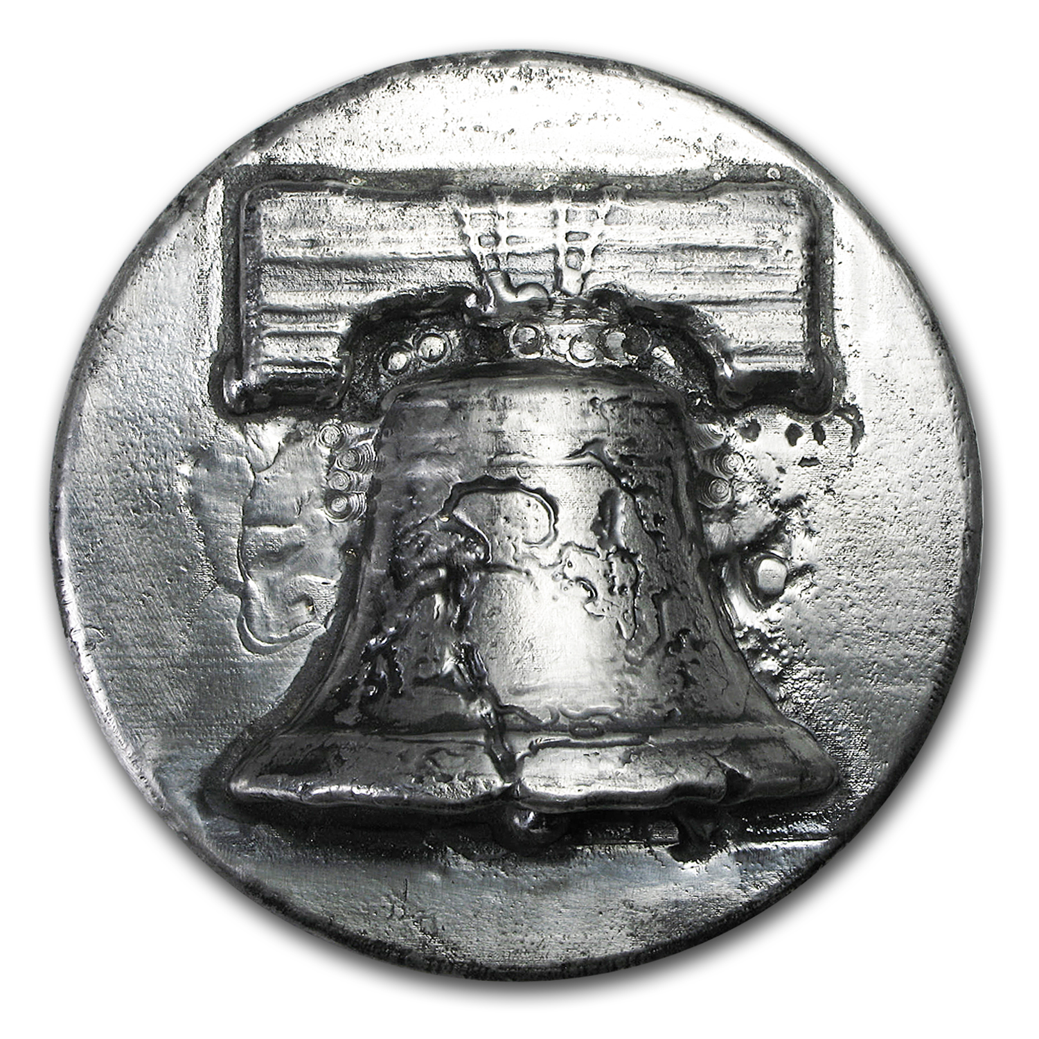 1 Kilo Silver Round Liberty Bell Ultra High Relief