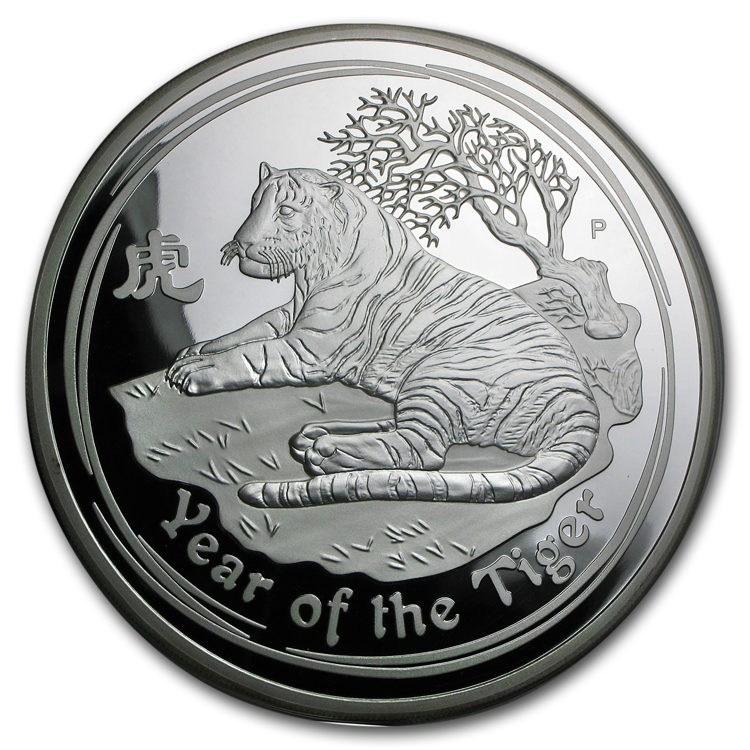 2010 Australia 1 kilo Silver Year of the Tiger Proof (DMG Box)