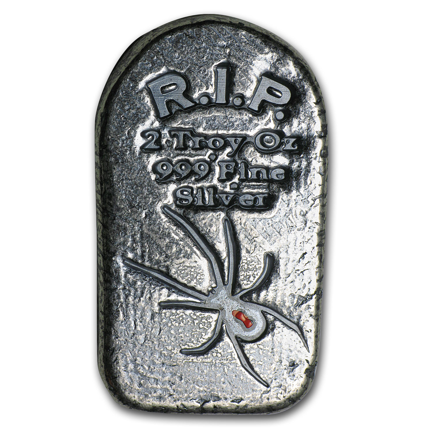 2 oz Silver Tombstone - Monarch Precious Metals (Black Widow)