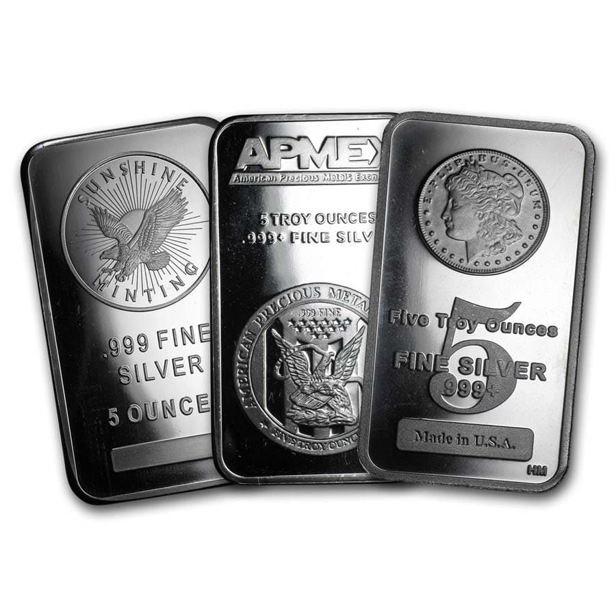 Buy 5 Oz Silver Bullion Bar Secondary Market 5 Ounce