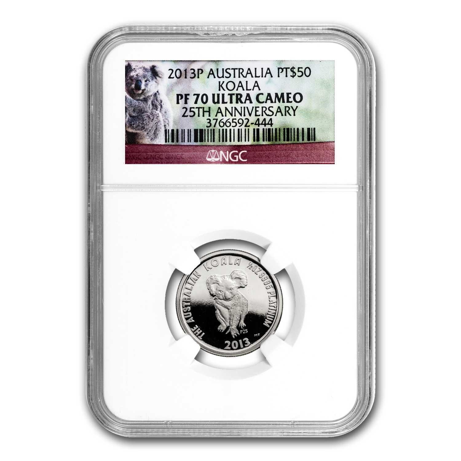 2013 Australia 1/2 oz Proof Platinum Koala 25th Anniv PF-70 NGC