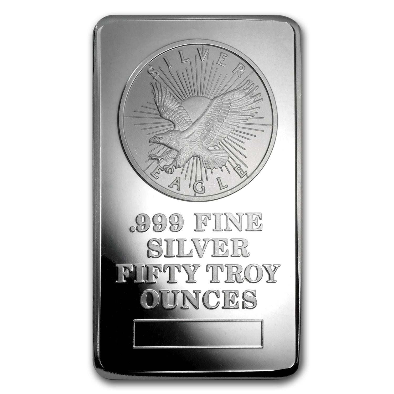 50 Ounce Silver Bullion Bar For Sale Sunshine Mint