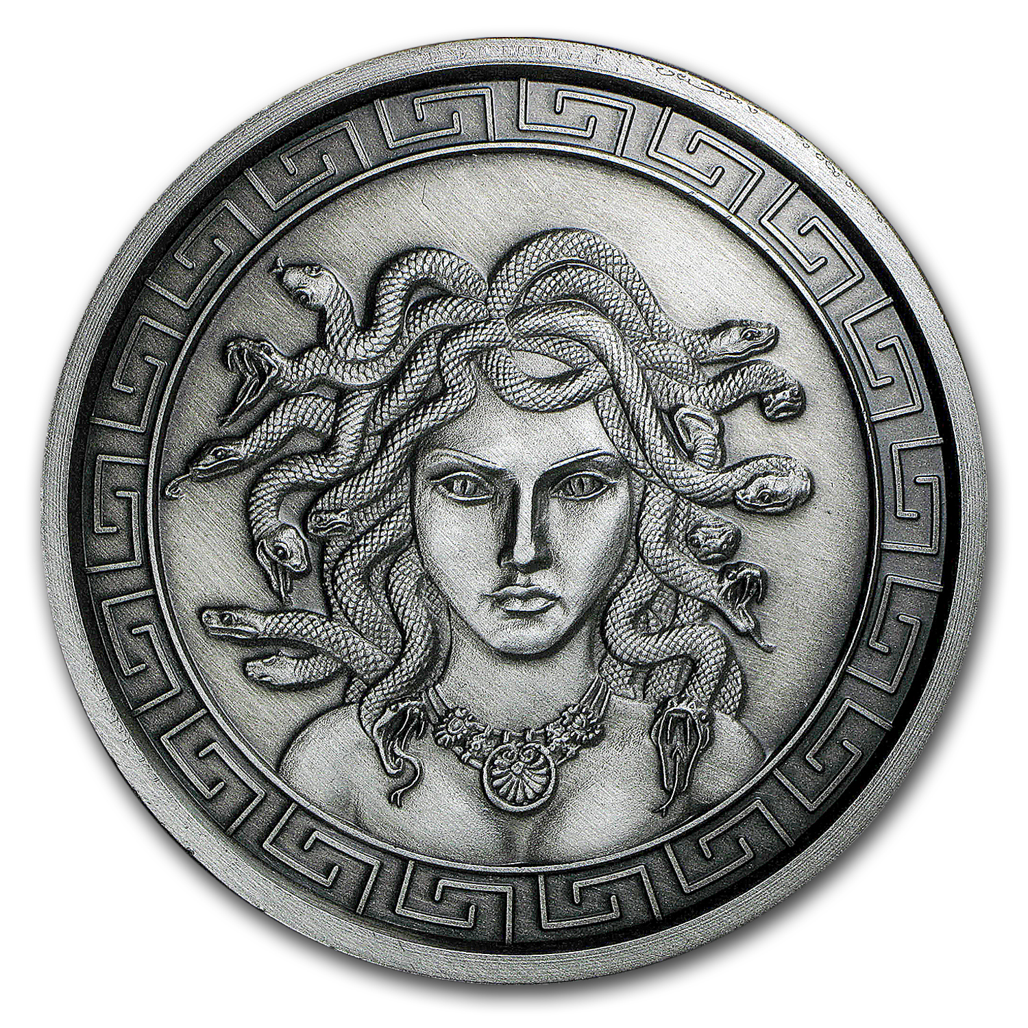 5 oz Silver Round - Medusa (Antique Finish)