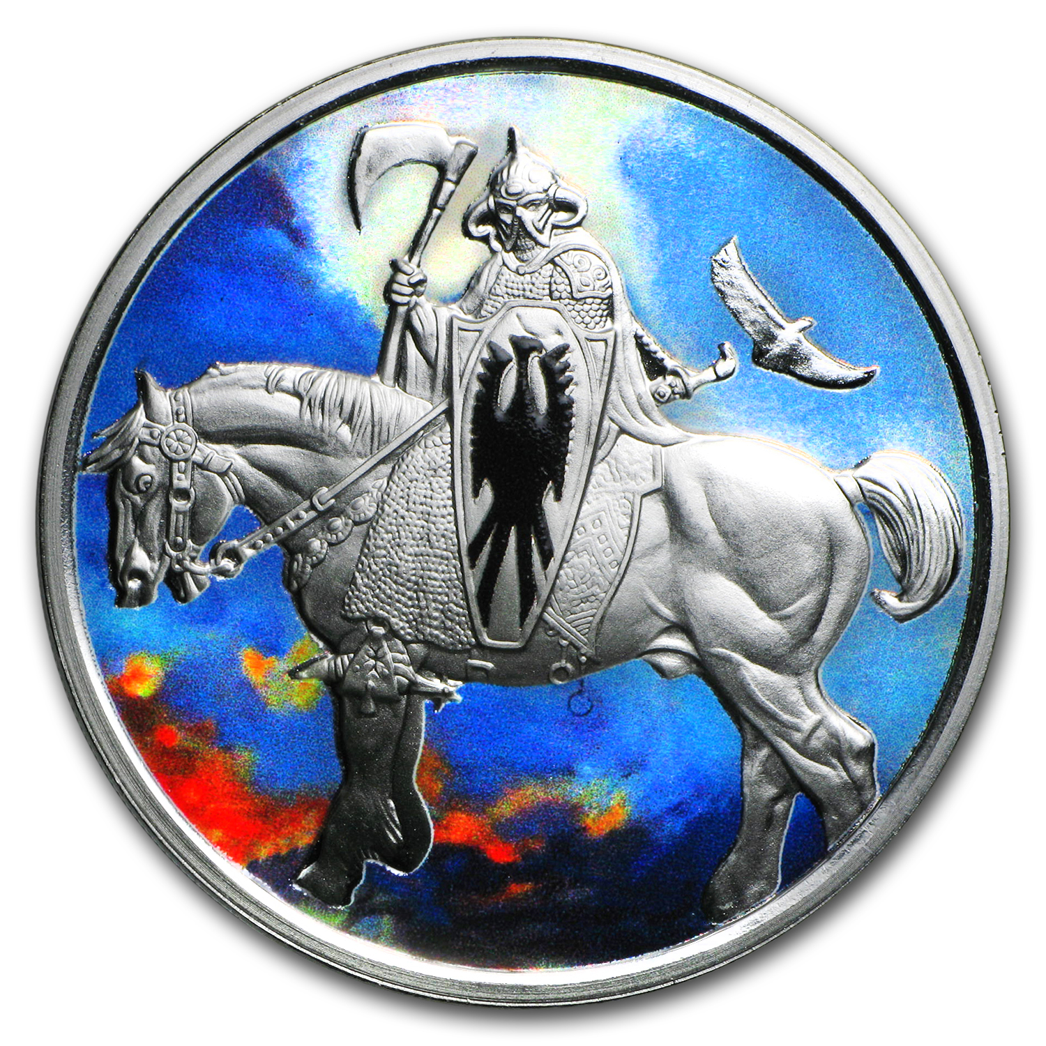 1 oz Silver Colorized Round - Frank Frazetta (Death Dealer)