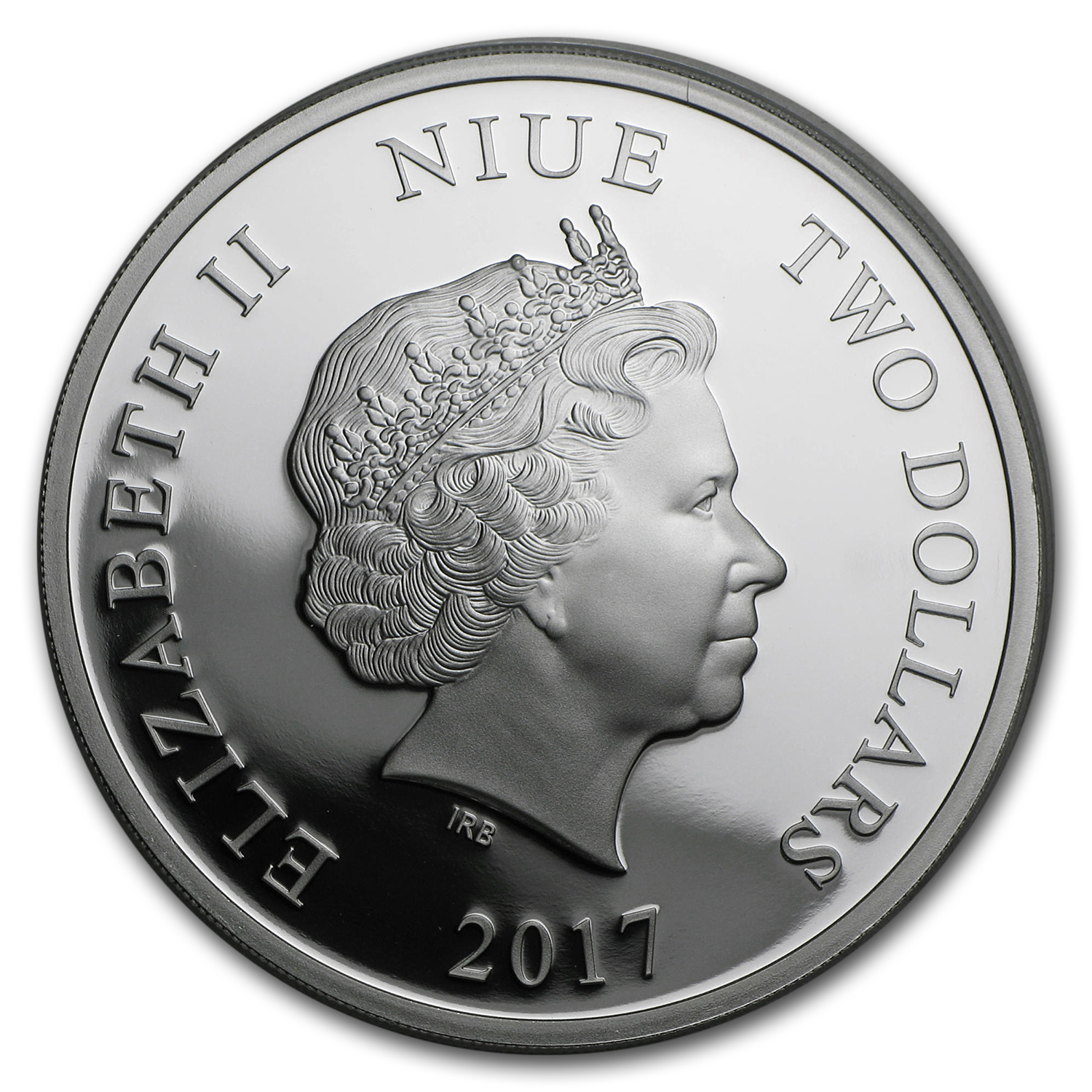 2017 Niue 1 oz Silver $2 Love is Precious Lovebirds