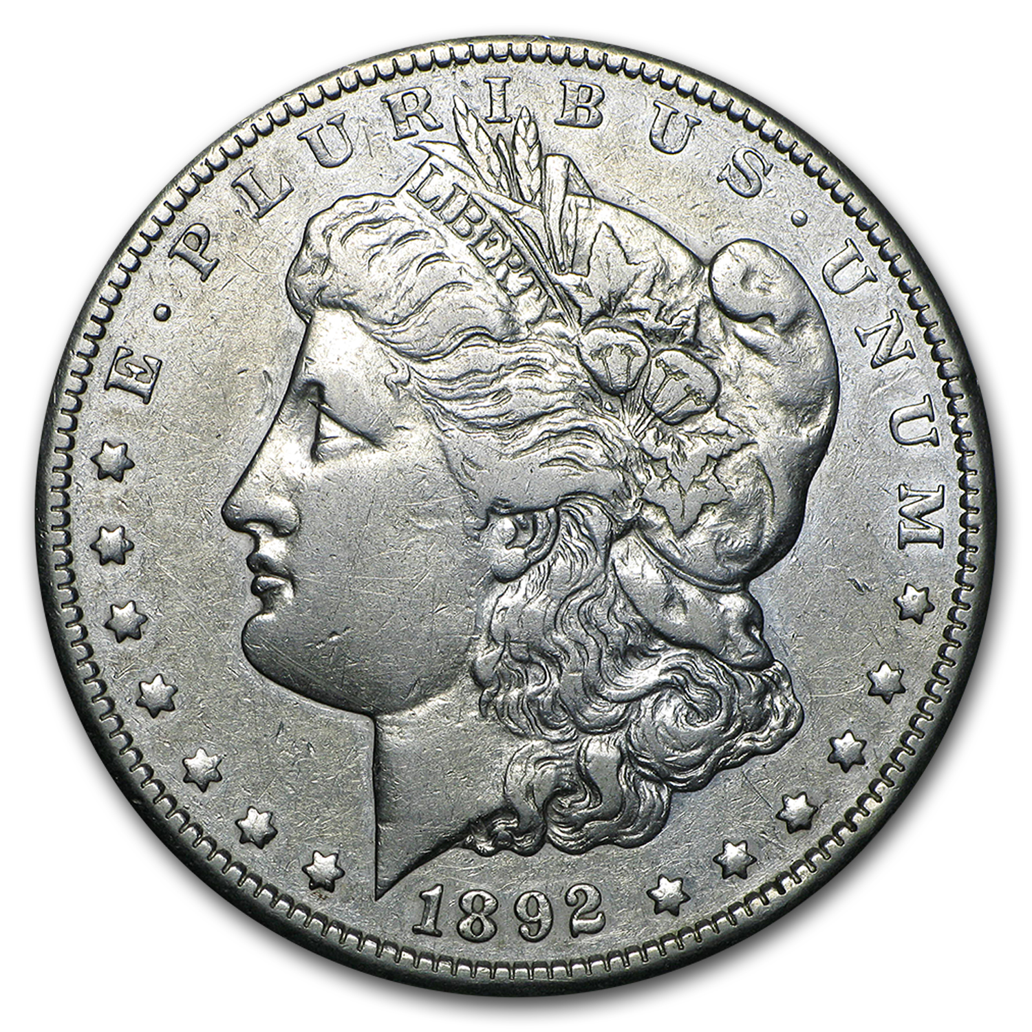 1892-CC Morgan Dollar VF