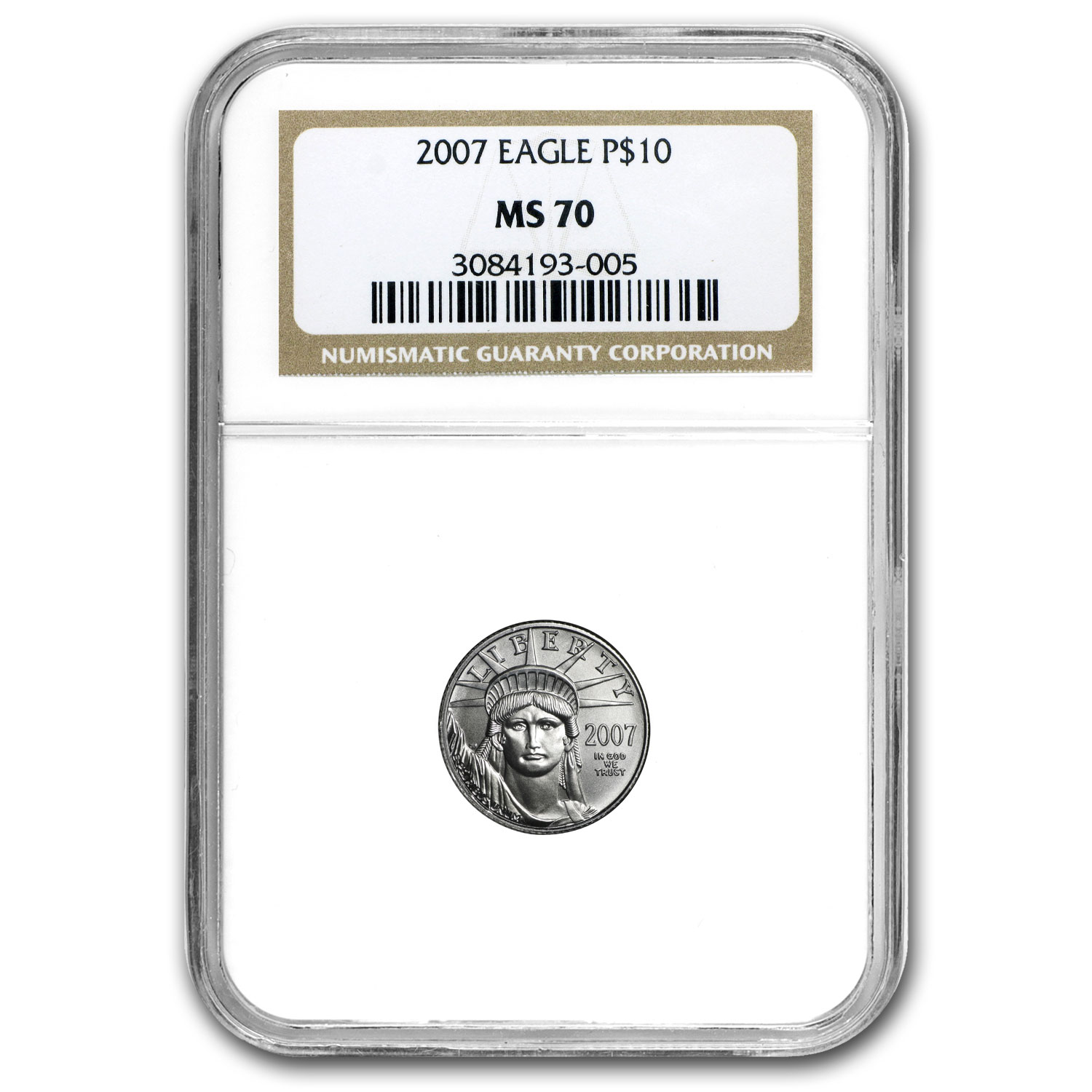 1/10 oz Platinum American Eagle MS-70 NGC (Random Year)
