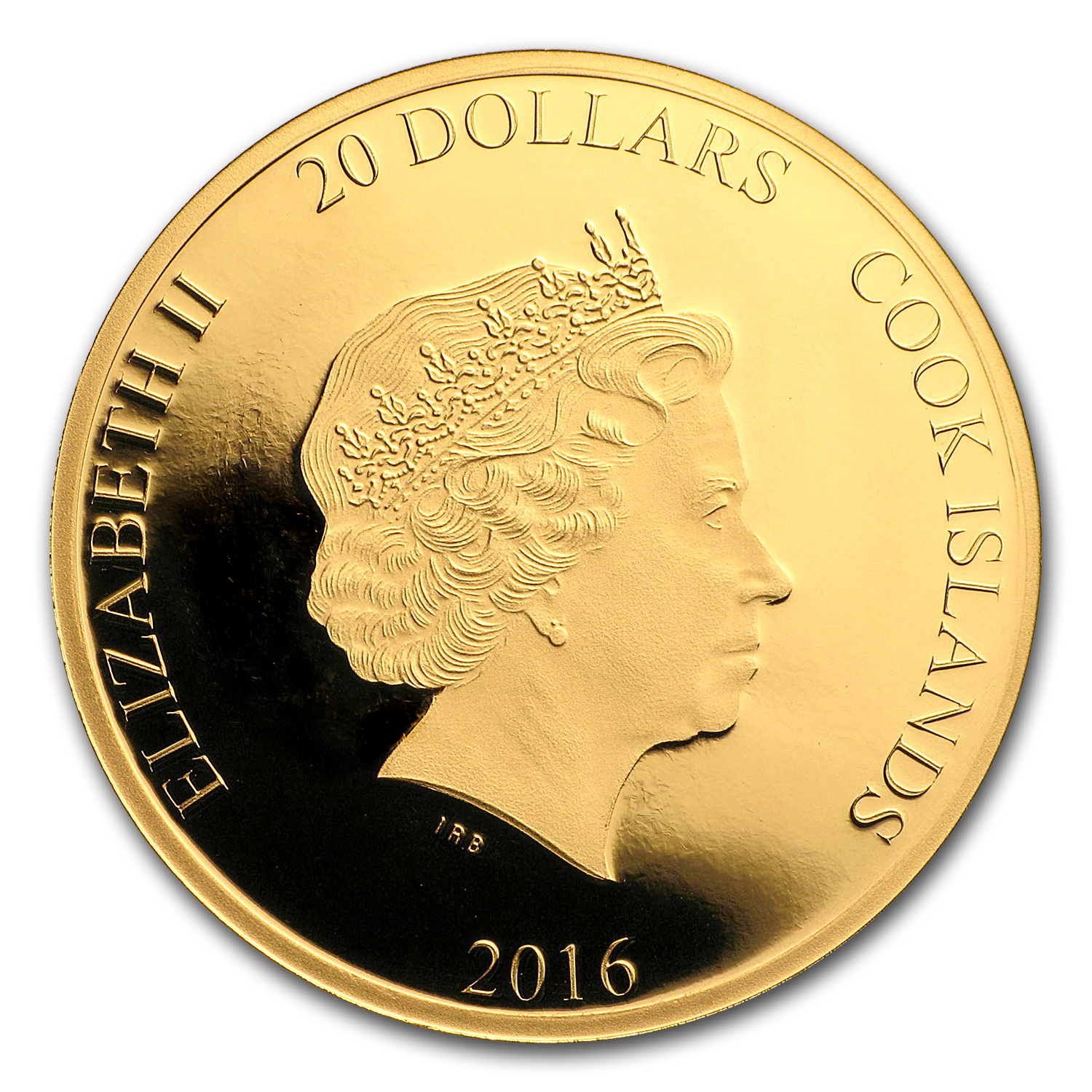 2016 Cook Islands 1/10 oz Gold Pope Francis 80th Birthday Proof