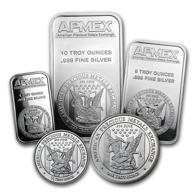 Apmex Silver Bundle 1 Oz Bullion Silver Rounds Apmex