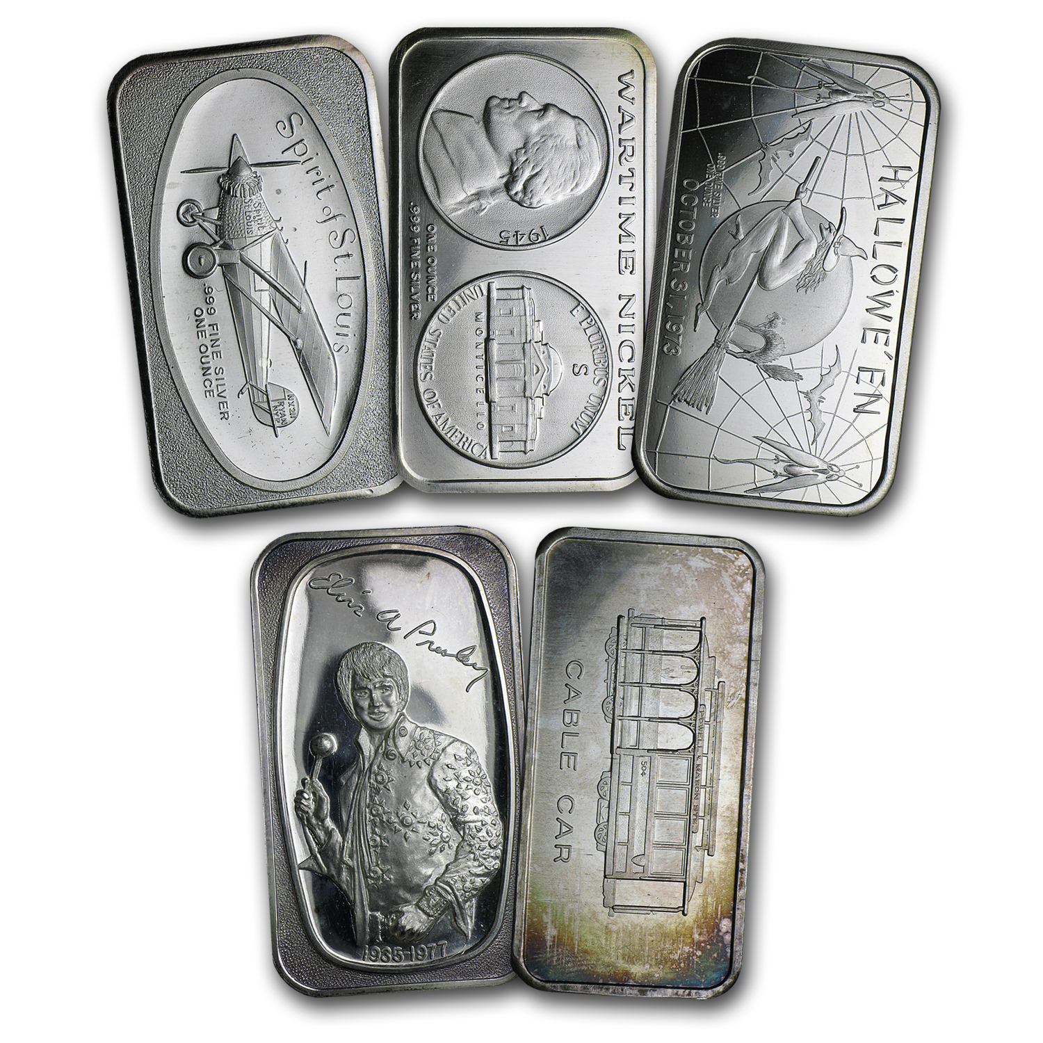 1 oz Silver Art Bar - Random Design