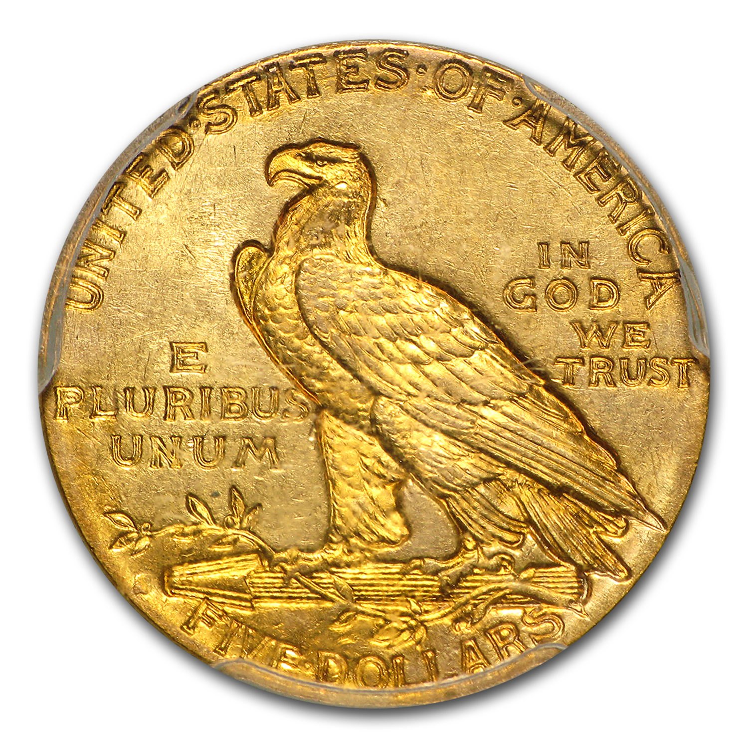 1912-S $5 Indian Gold Half Eagle MS-61 PCGS