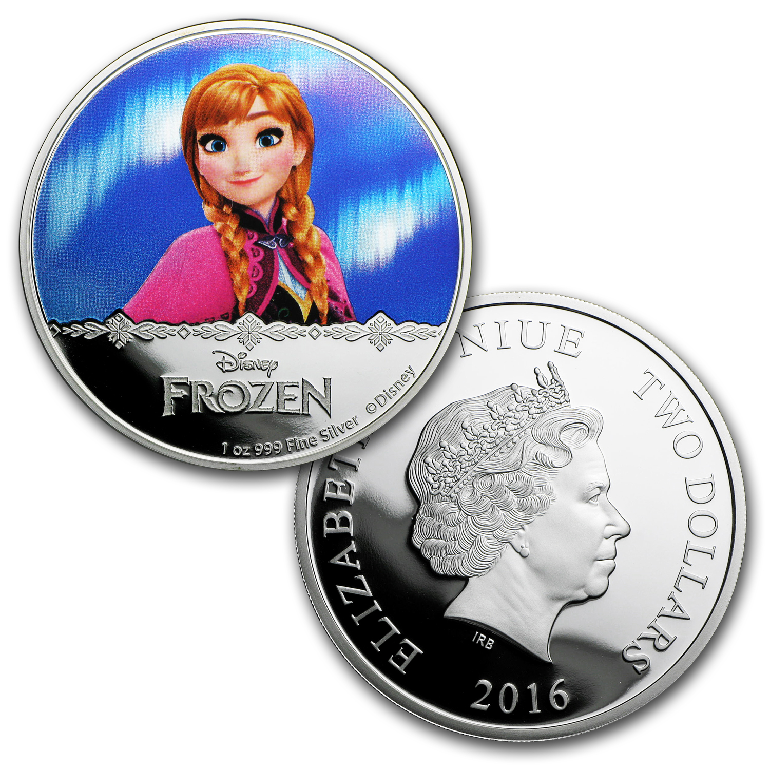 2016 Niue 1 oz Silver $2 Disney Frozen: The Complete Set
