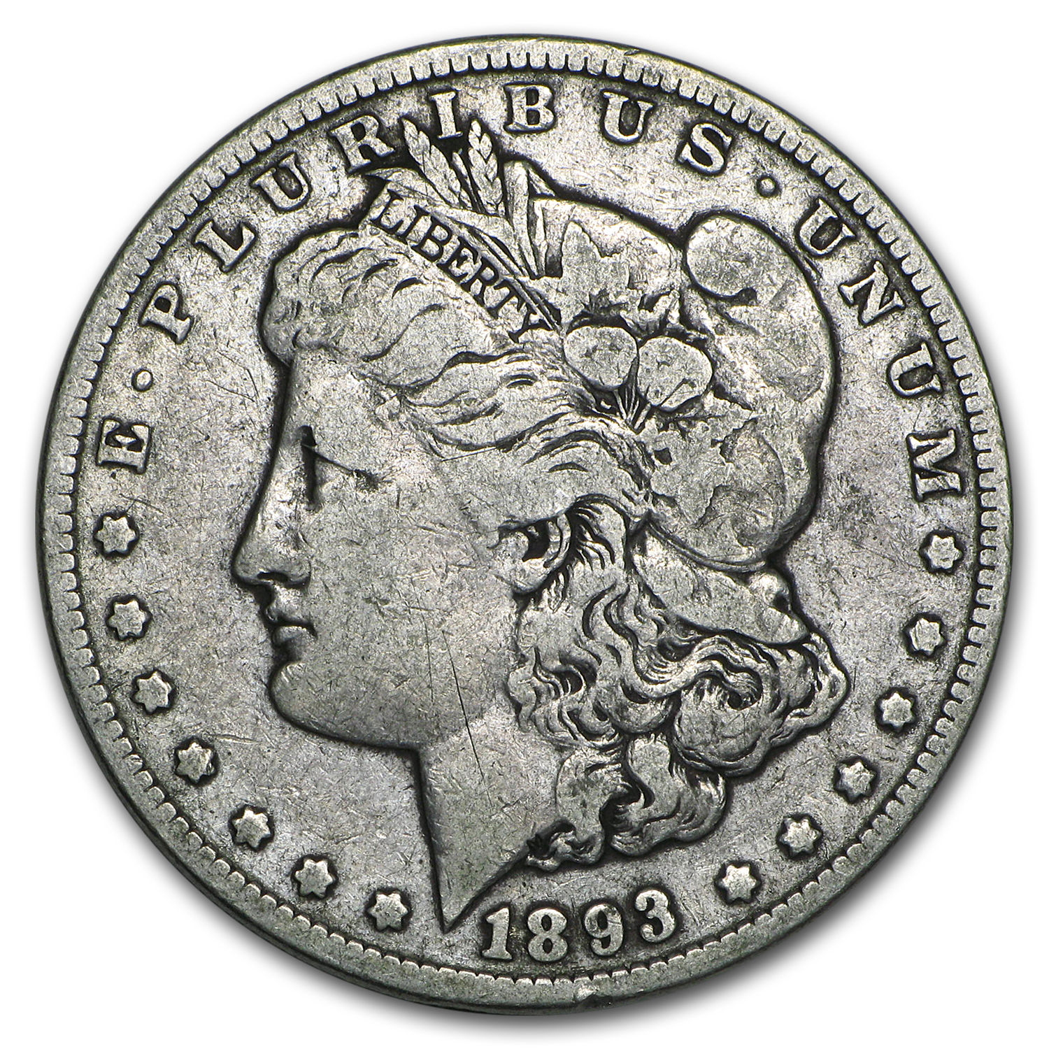1893 Morgan Dollar - Very Good