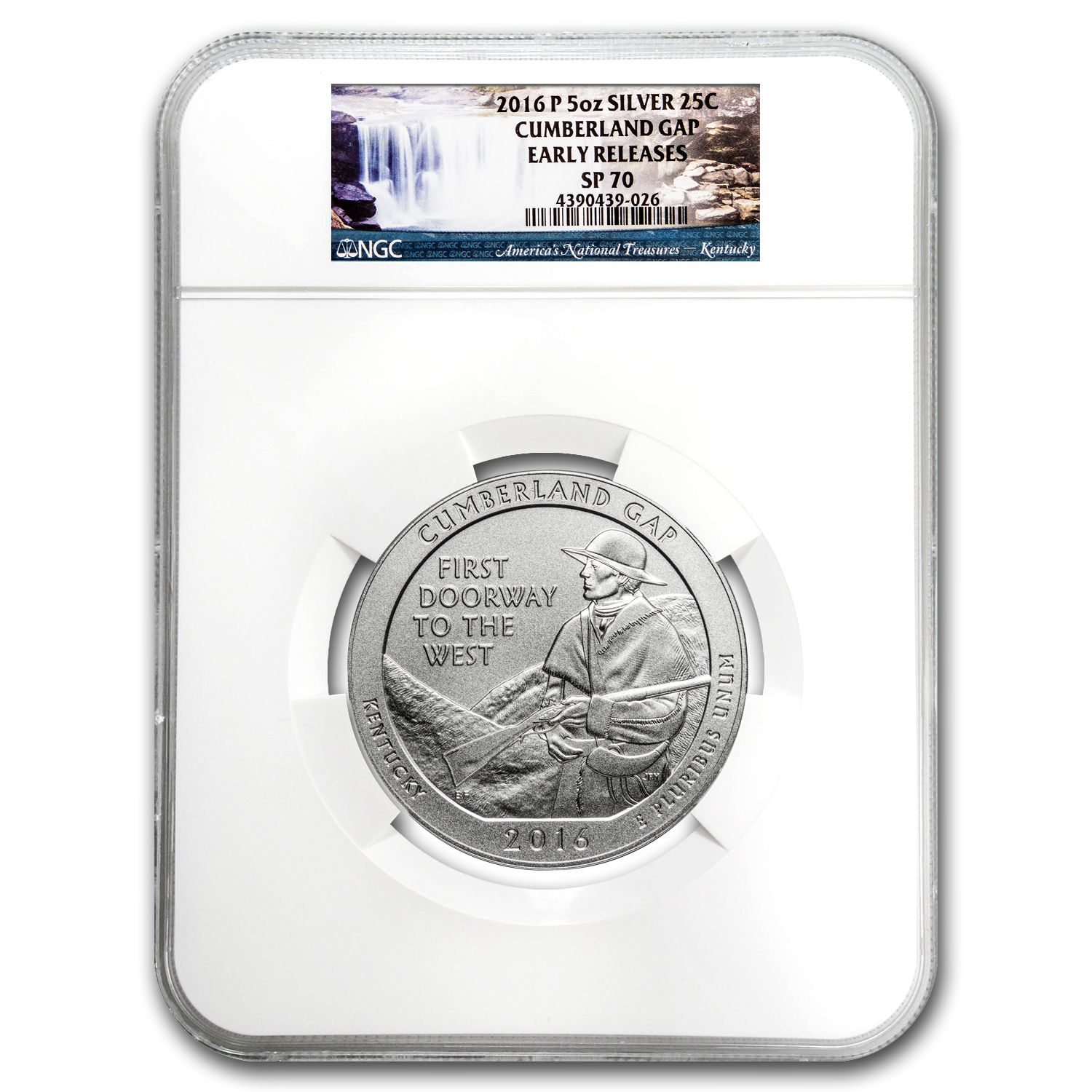 2016-P 5 oz Silver ATB Cumberland Gap SP-70 NGC (Early Release)