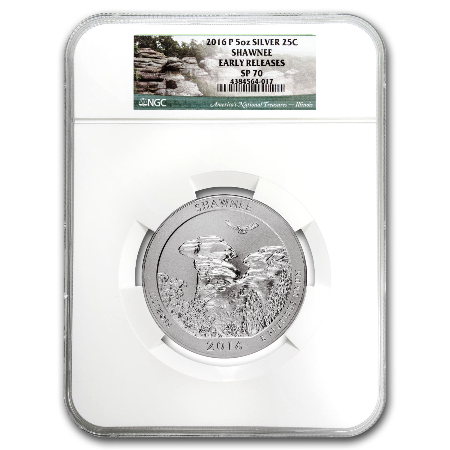 2016-P 5 oz Silver ATB Shawnee SP-70 NGC (Early Release)