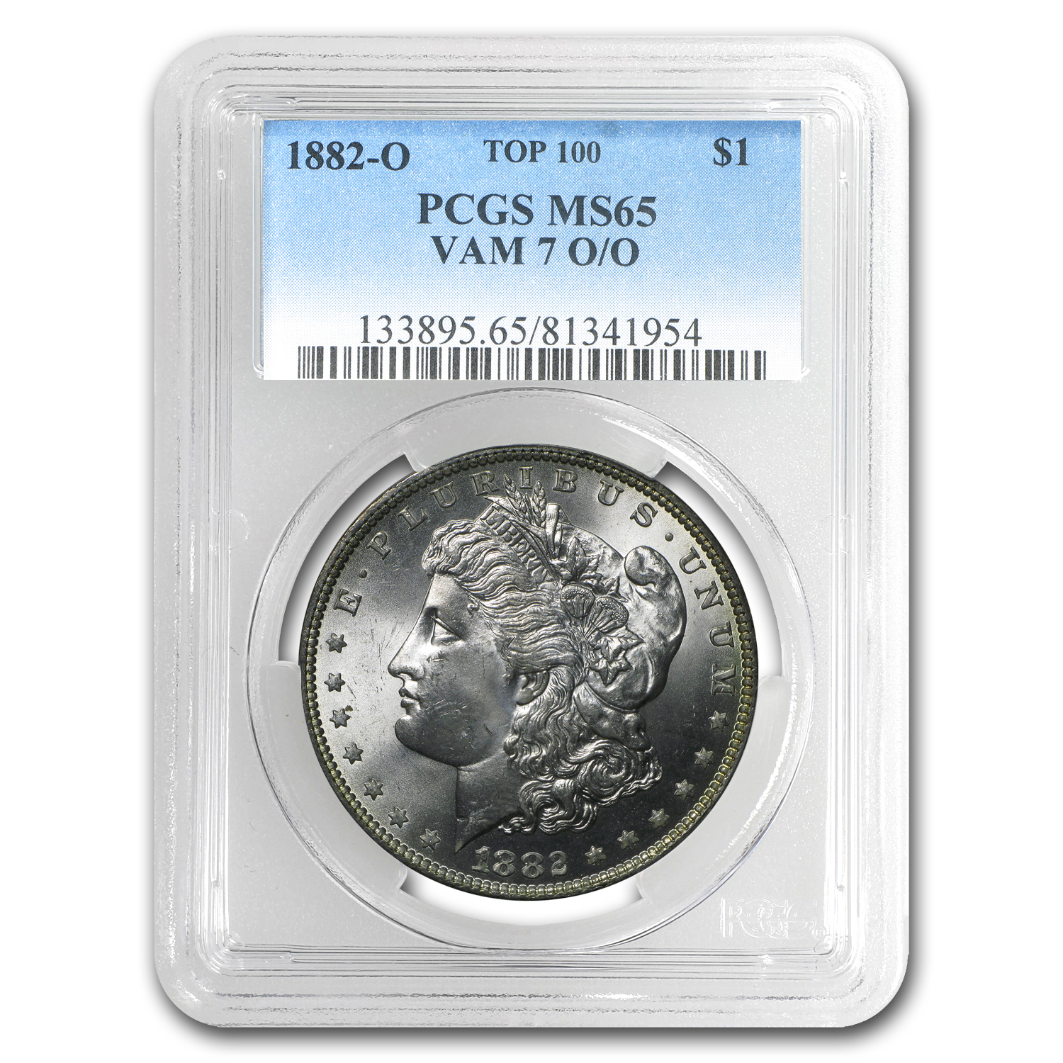 1882-O/O Morgan Dollar MS-65 PCGS (VAM-7, Top-100)
