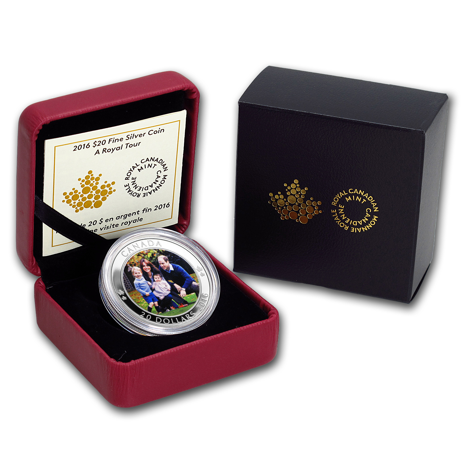 2016 1 oz Proof Silver $20 A Royal Tour