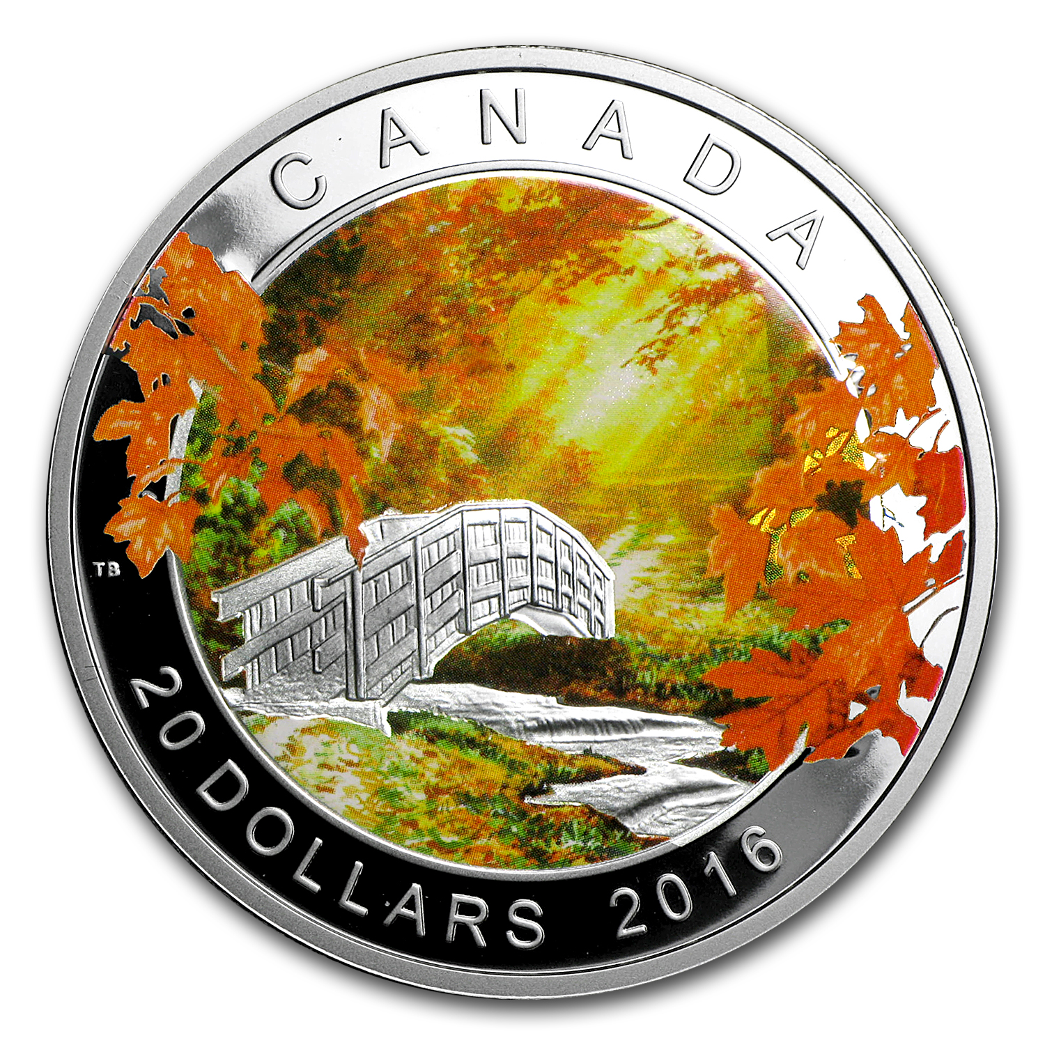 2016 1 oz Proof Silver $20 Autumn Tranquility