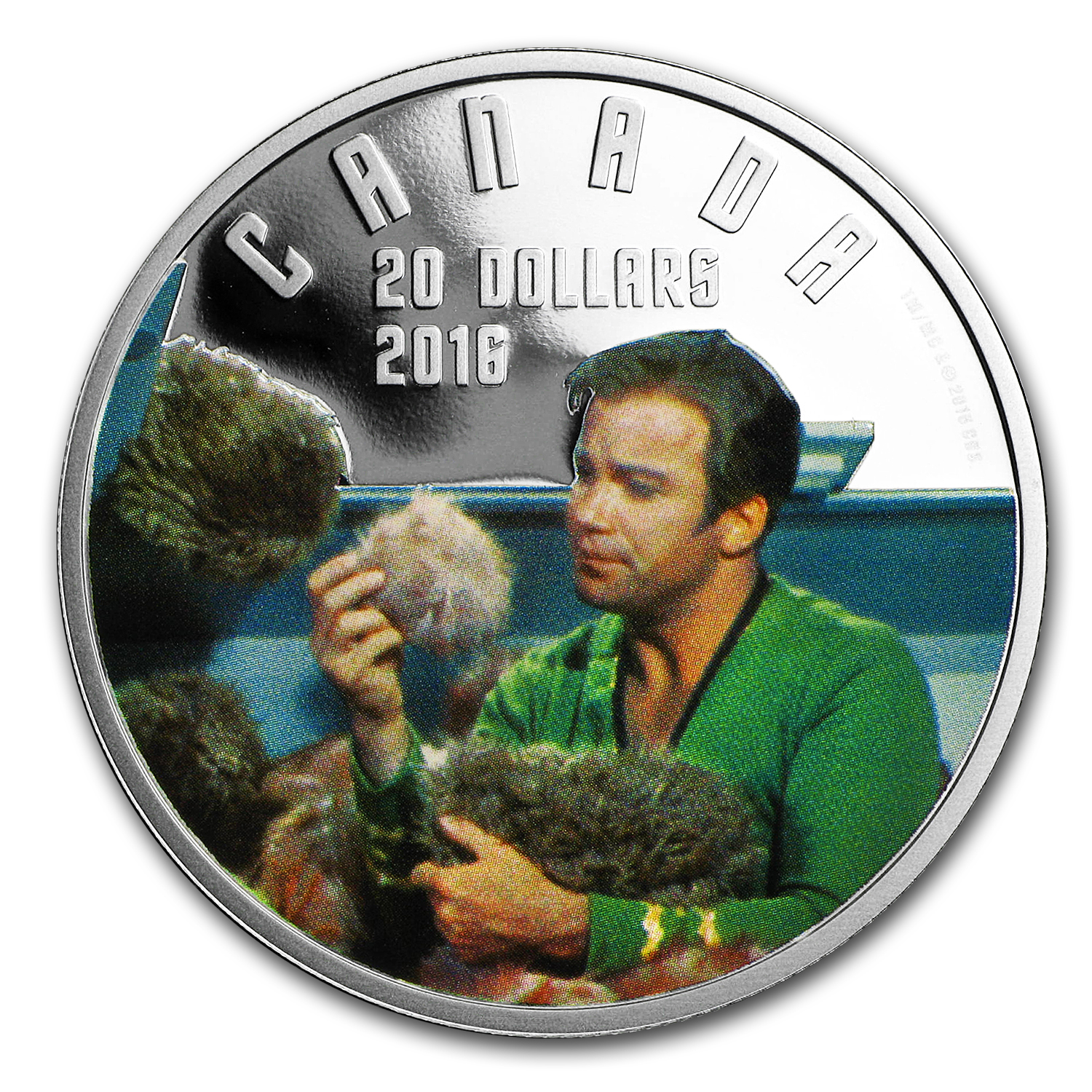 2016 1 oz Proof Silver $20 Star Trek: The Trouble with Tribbles