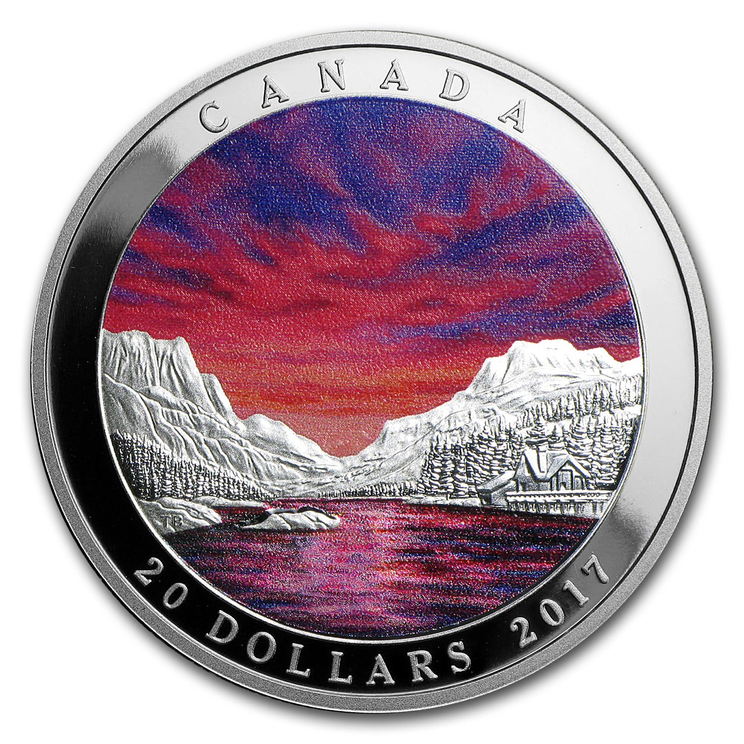 2017 1 oz Silver $20 Weather Phenomenon Fiery Sky