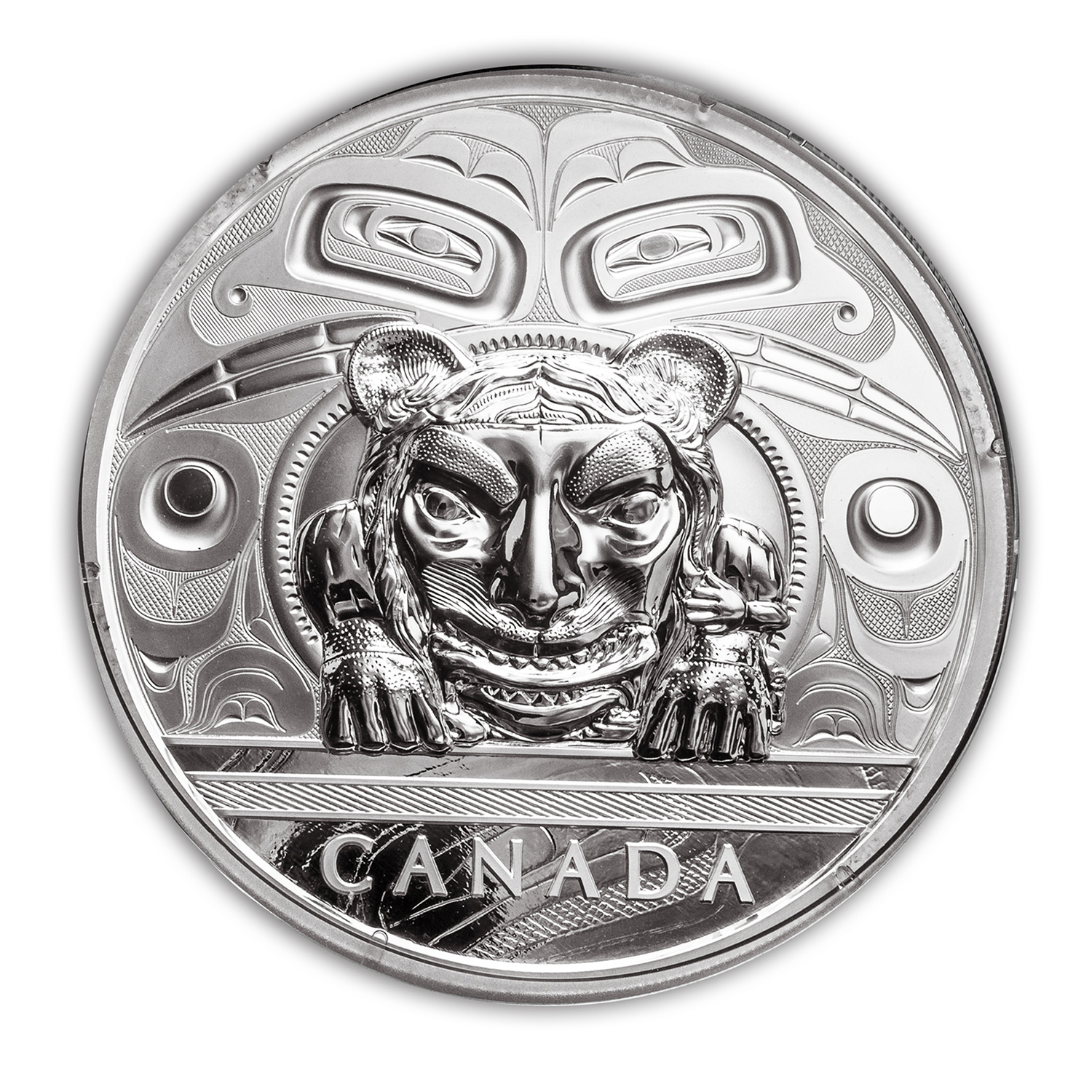 2016 5 kilo Proof Silver $500 Haida Argillite Chest