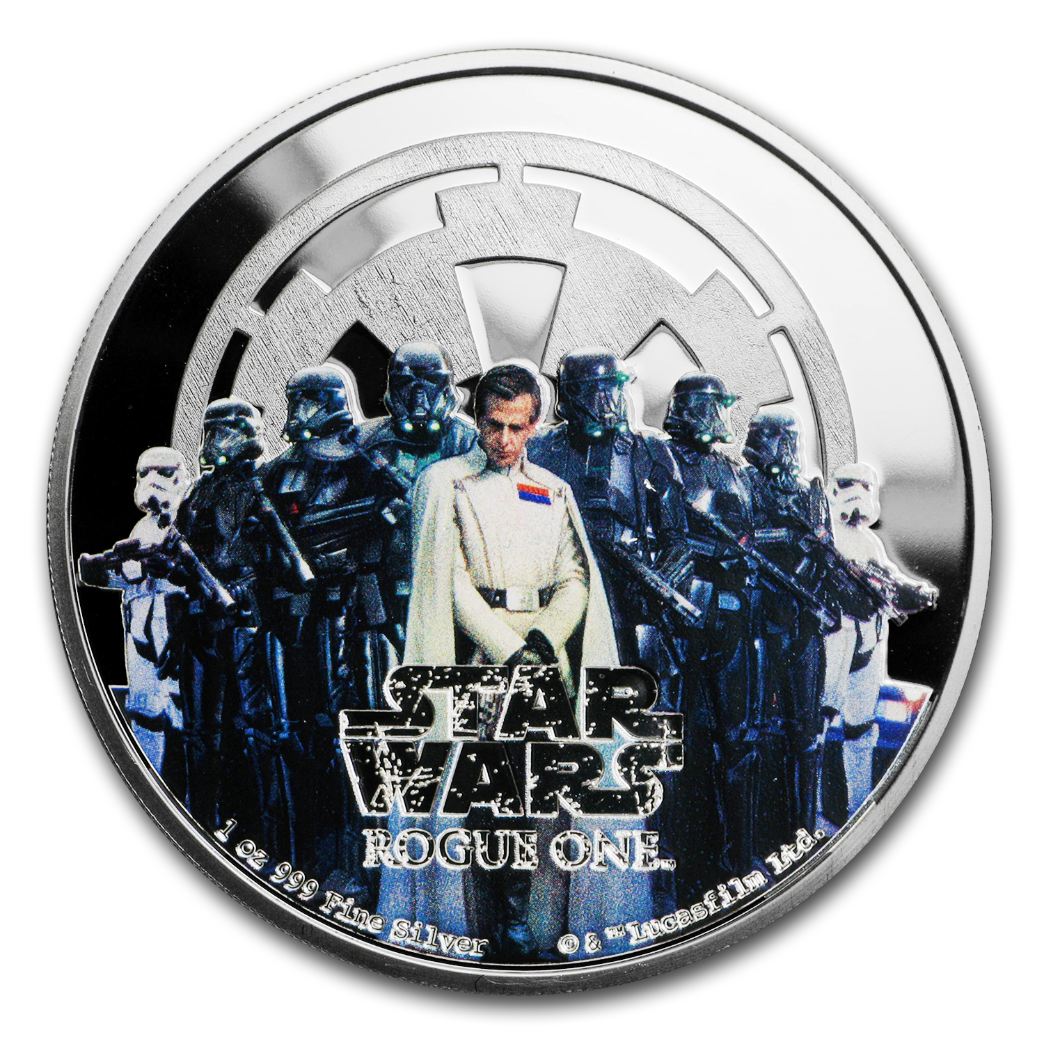 2017 Niue 1 oz Silver $2 Star Wars Rogue One Empire (w/Box & COA)