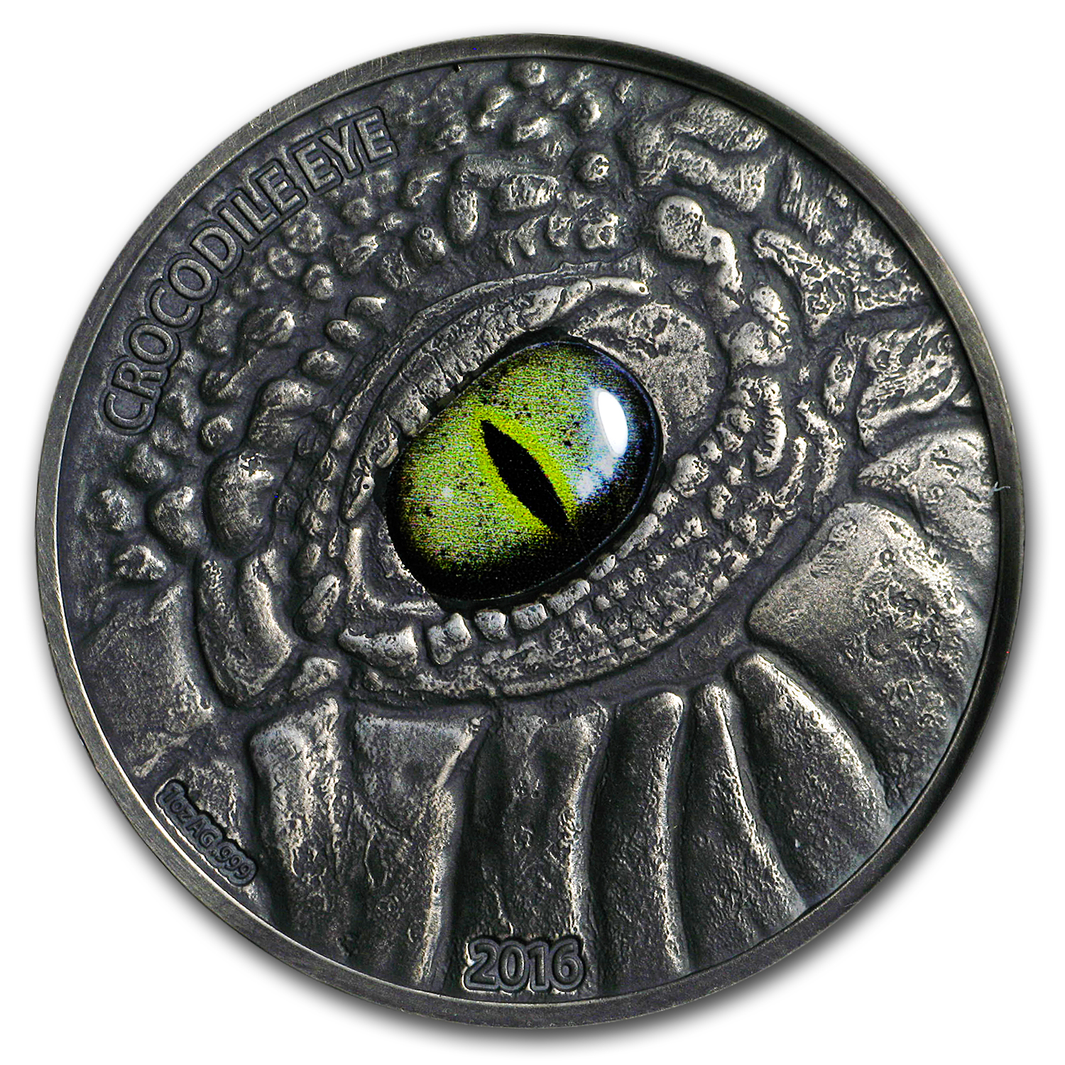 2016 Burkina Faso 1 oz Silver The Crocodile Eye