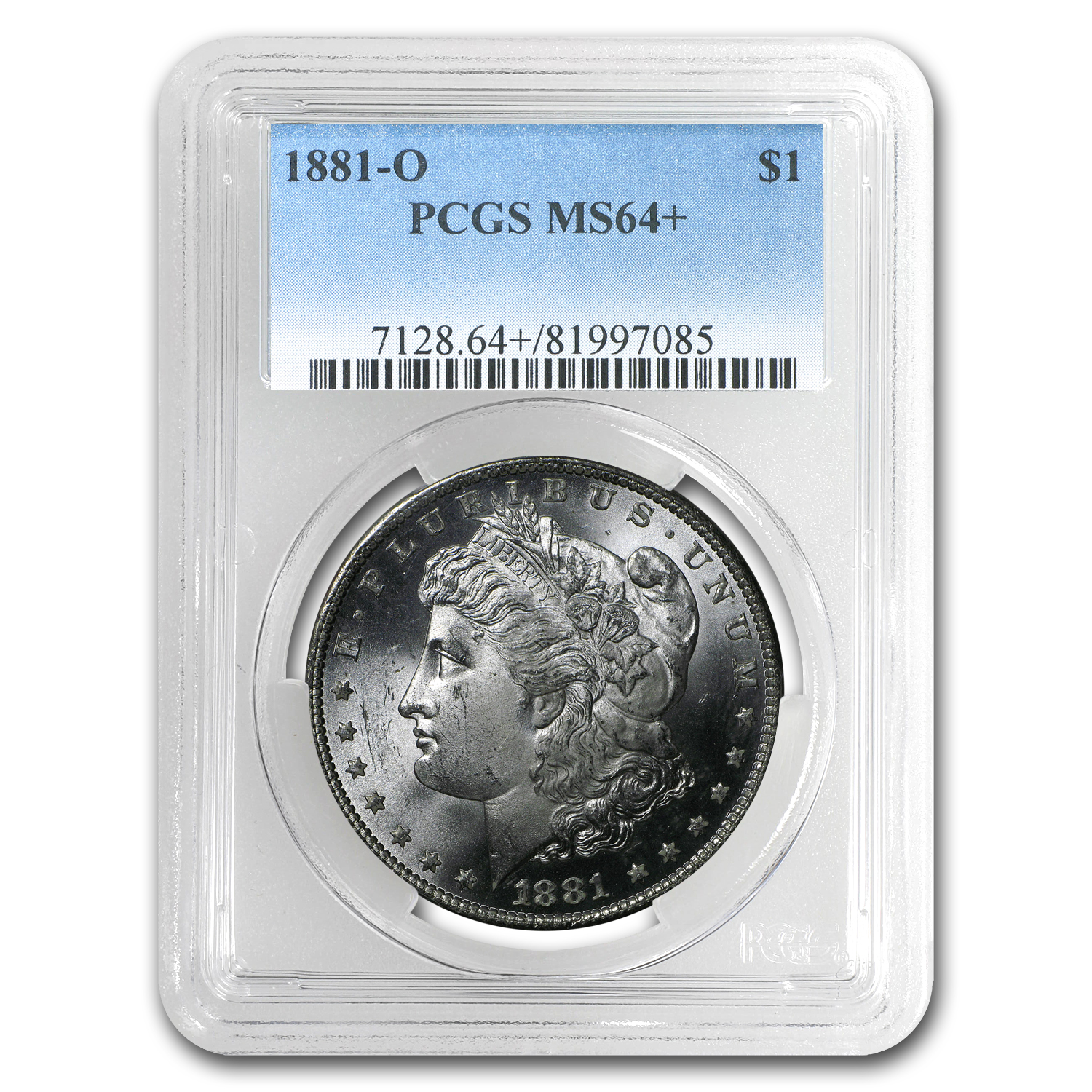1881-O Morgan Dollar MS-64+ PCGS
