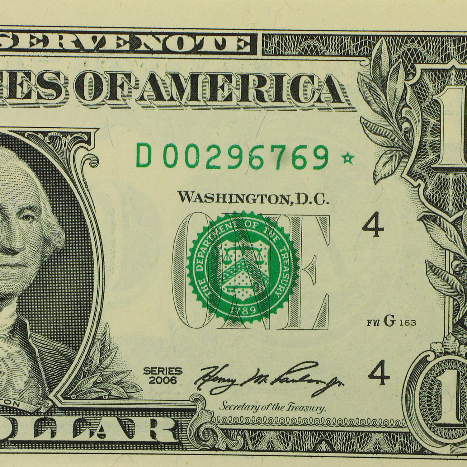 2006* (D-Cleveland) $1.00 FRN GEM CU (Star Note)