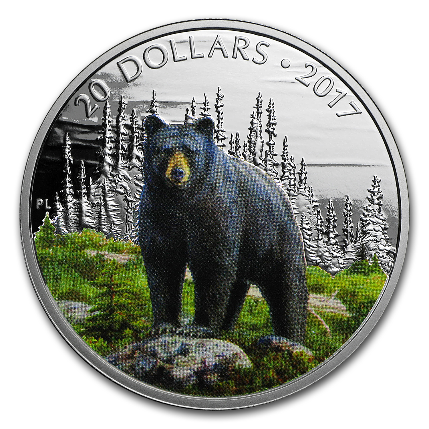 2017 Canada 1 oz Silver $20 Majestic Animals: Black Bear