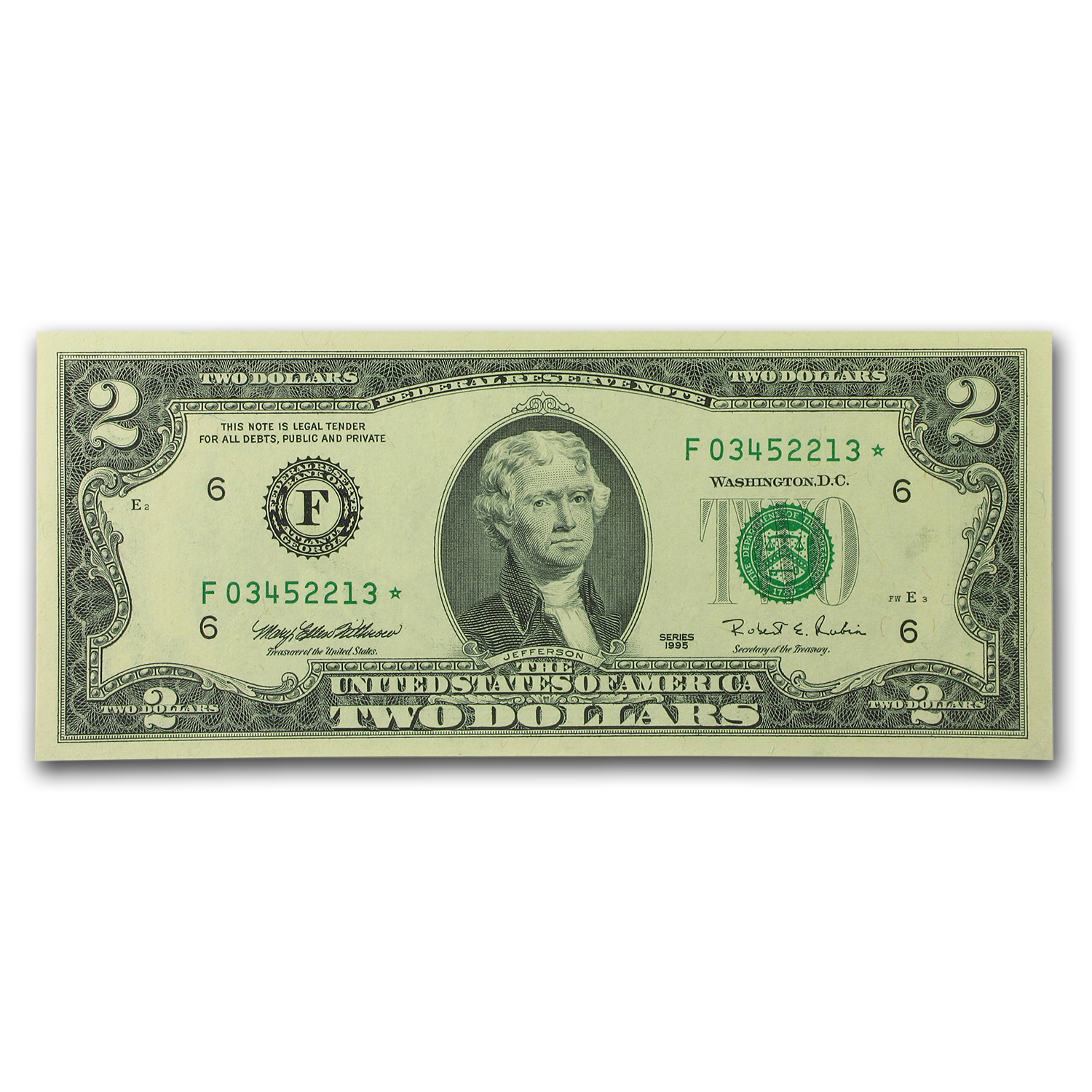 1995* (F-Atlanta) $2.00 FRN CU-66 EPQ PMG (8 Consec Star Notes)