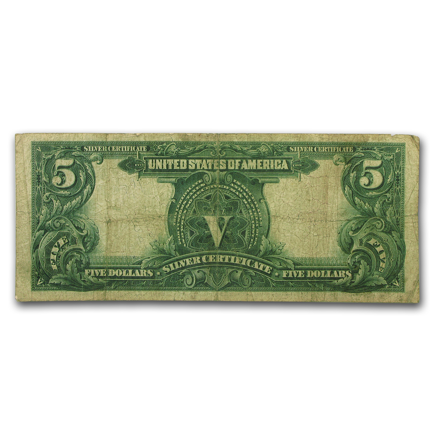 1899 $5.00 Silver Certificate Chief Running Antelope F-15 PMG