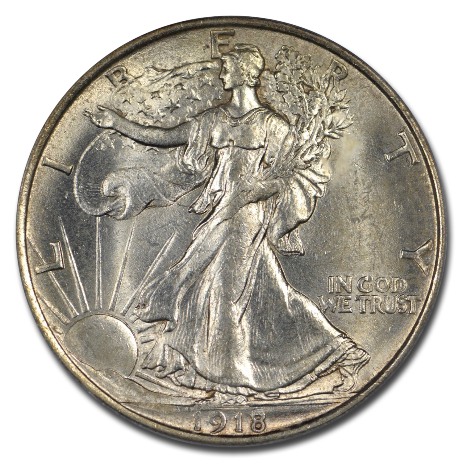 1918-D Walking Liberty Half-Dollar MS-63 PCGS