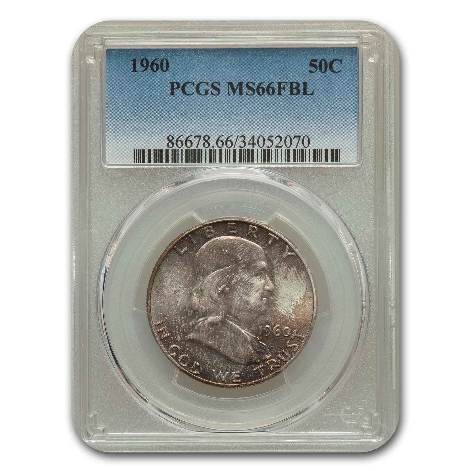 1960 Franklin Half Dollar MS-66 PCGS (FBL)