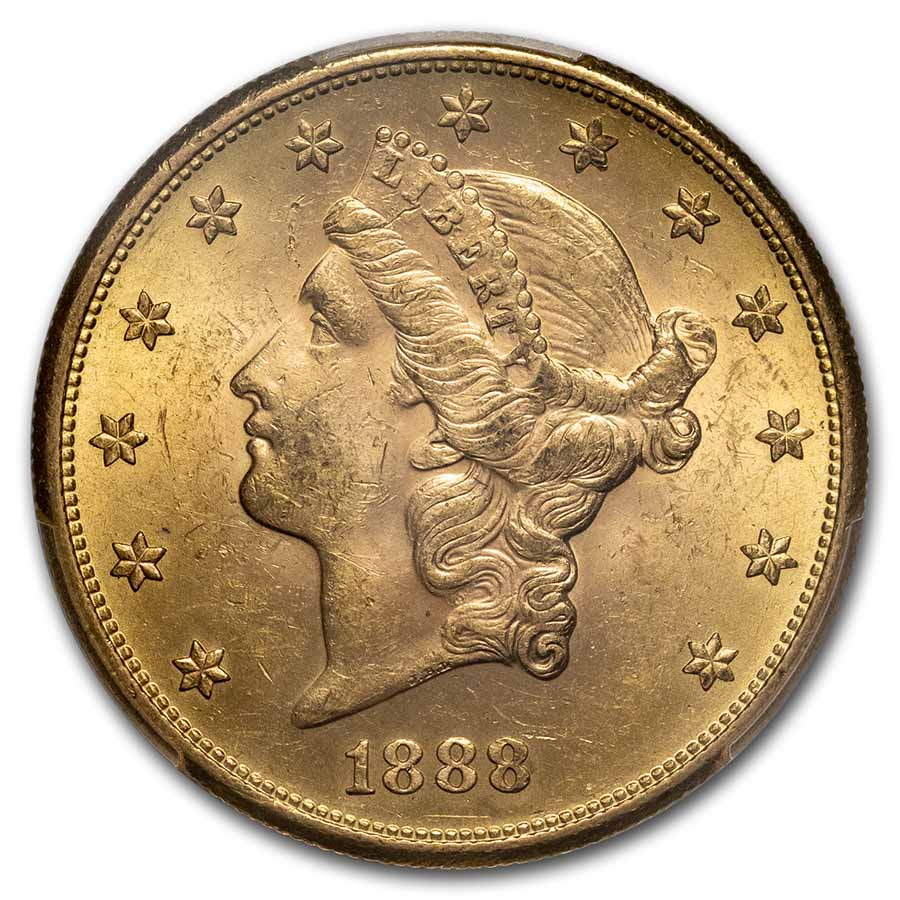 1888-S $20 Liberty Gold Double Eagle MS-63 PCGS