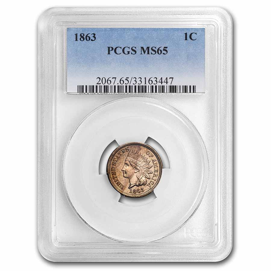 1863 Indian Head Cent MS-65 PCGS
