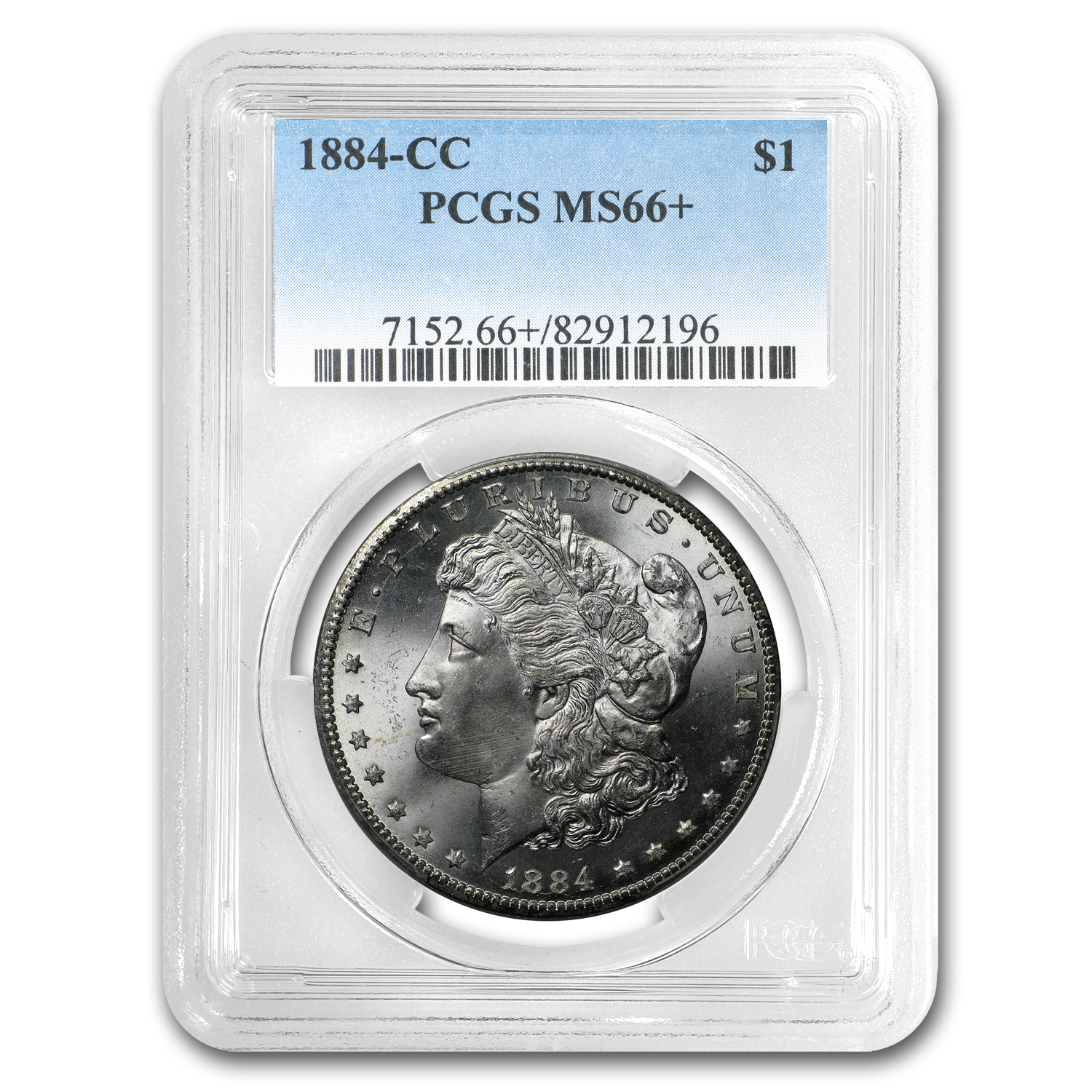 1884-CC Morgan Dollar MS-66+ CAC PCGS