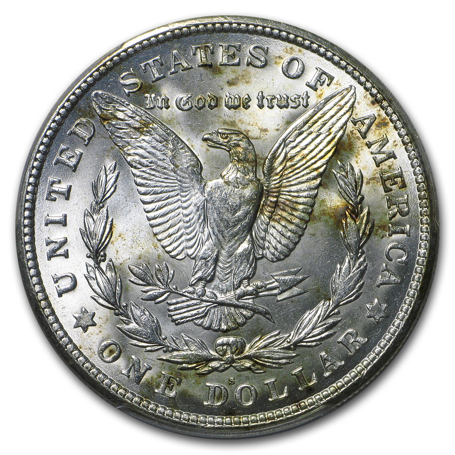 1921-S Morgan Dollar MS-64 PCGS (Toned)