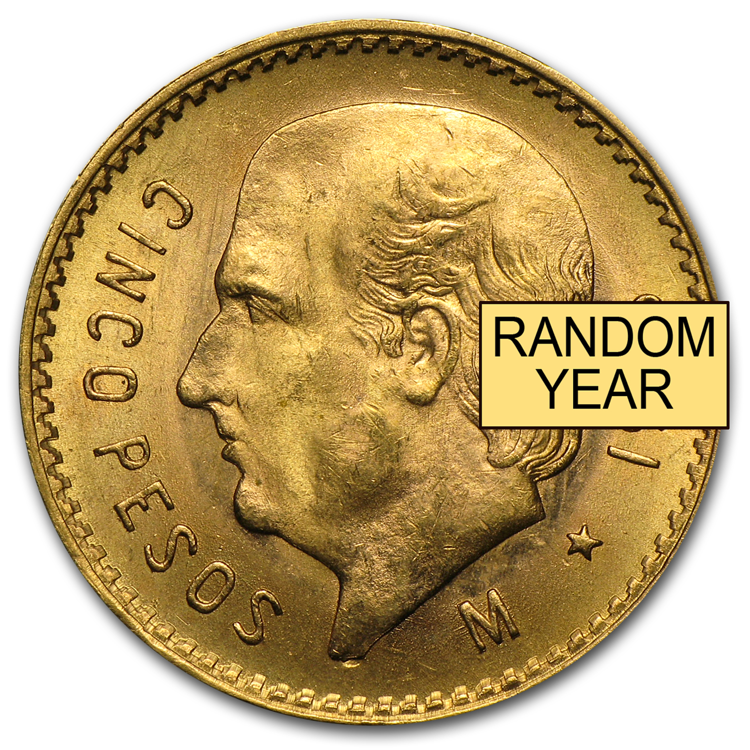 Mexico Gold 5 Pesos AGW .1205 (Random Year)