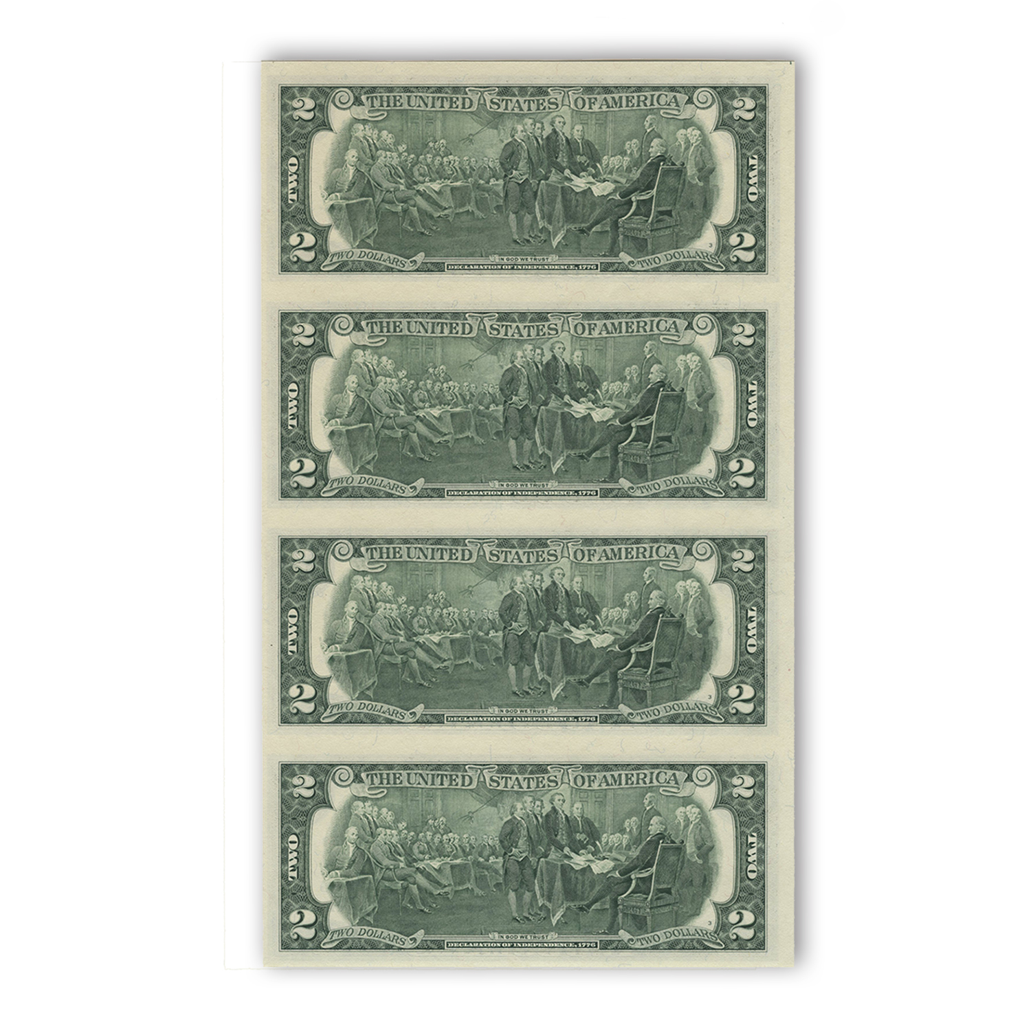 2003 (K-Dallas) $2.00 FRN CU (Uncut sheet of 4)