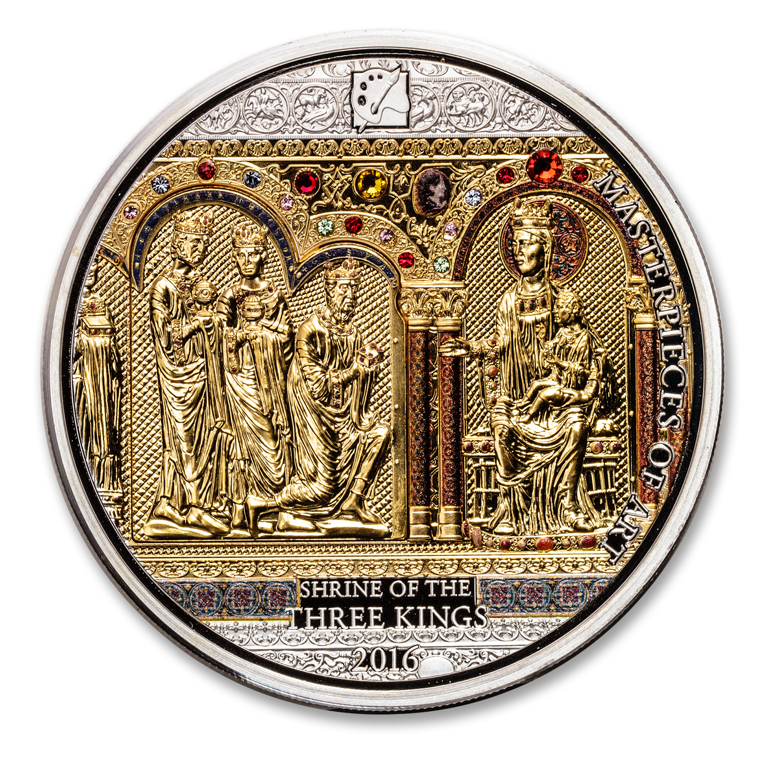 2016 Cook Islands Gold/Silver Shrine of the Three Kings Proof