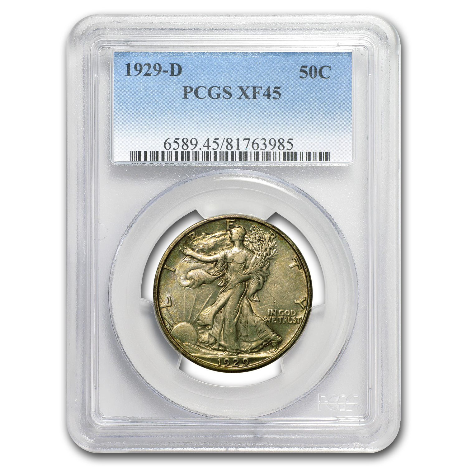 1929-D Walking Liberty Half Dollar XF-45 PCGS