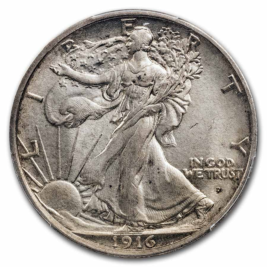 1916-D Walking Liberty Half Dollar MS-63 PCGS
