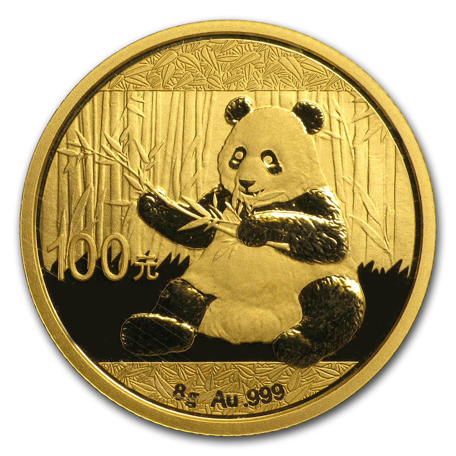2017 China 8 gram Gold Panda BU (Sealed)