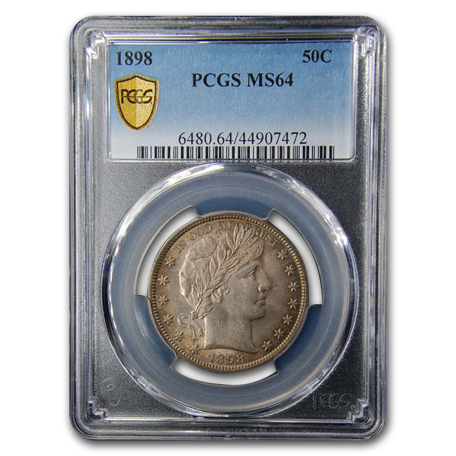 1898 Barber Half Dollar MS-64 PCGS