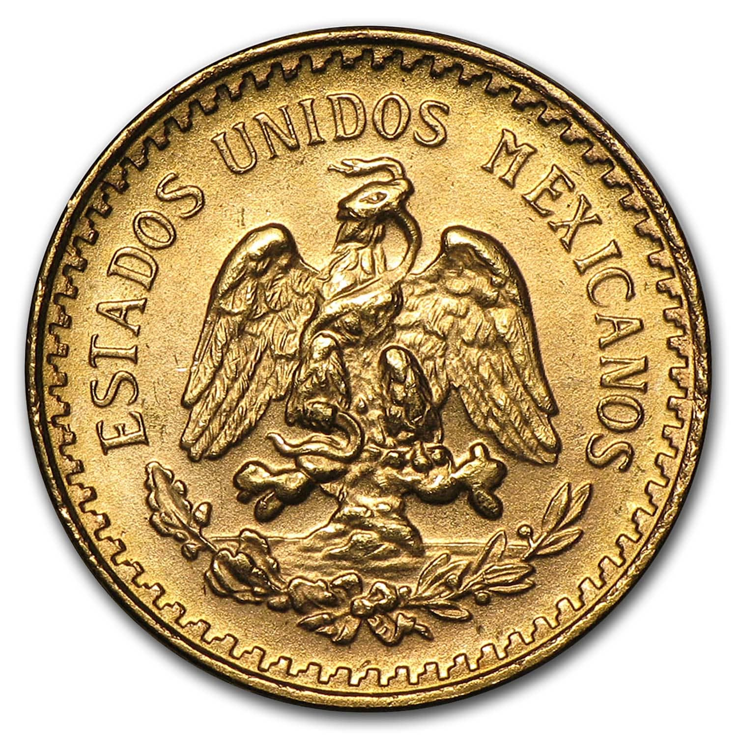 Mexico Gold 2 1/2 Pesos AGW .0603 (Random Year)