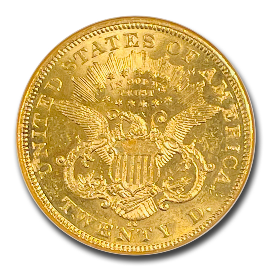 1875-CC $20 Liberty Gold Double Eagle MS-62 NGC