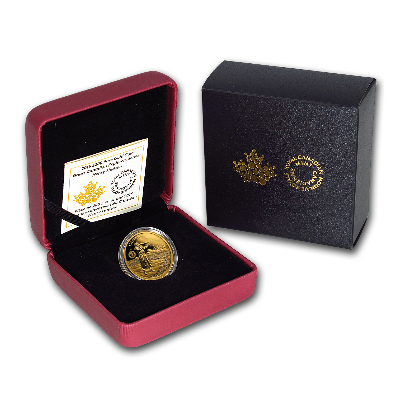 2015 Canada Proof Gold $200 Canadian Explorers Henry Hudson
