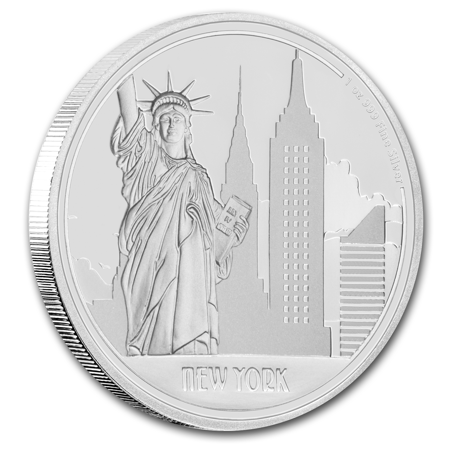 2017 Niue 1 oz Silver $2 Great Cities New York City